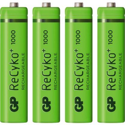 4x akumulátory batérie GP R3 AAA 1000mAh - rýchle